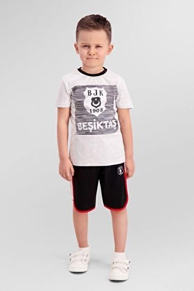 Beşiktaş Beşiktaş Lisanslı Siyah Erkek Çocuk Bermuda Takım Gri